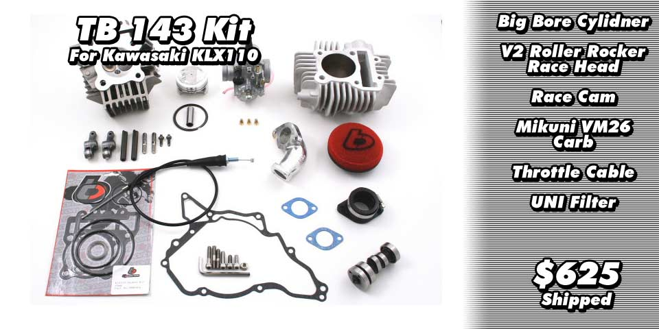 TB Parts 143cc Big Bore Kit for KLX110