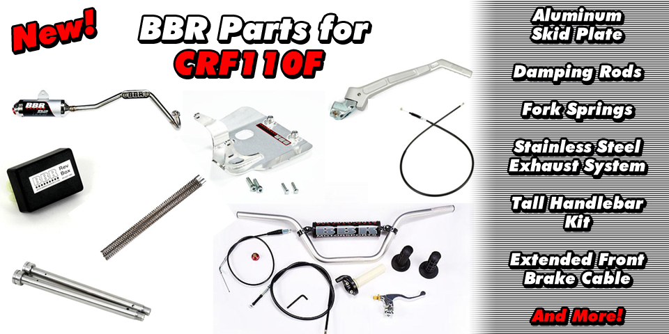 NEW BBR Parts for Honda CRF110F!