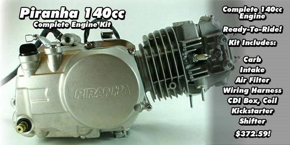 Piranha 140cc Complete Engine Kit