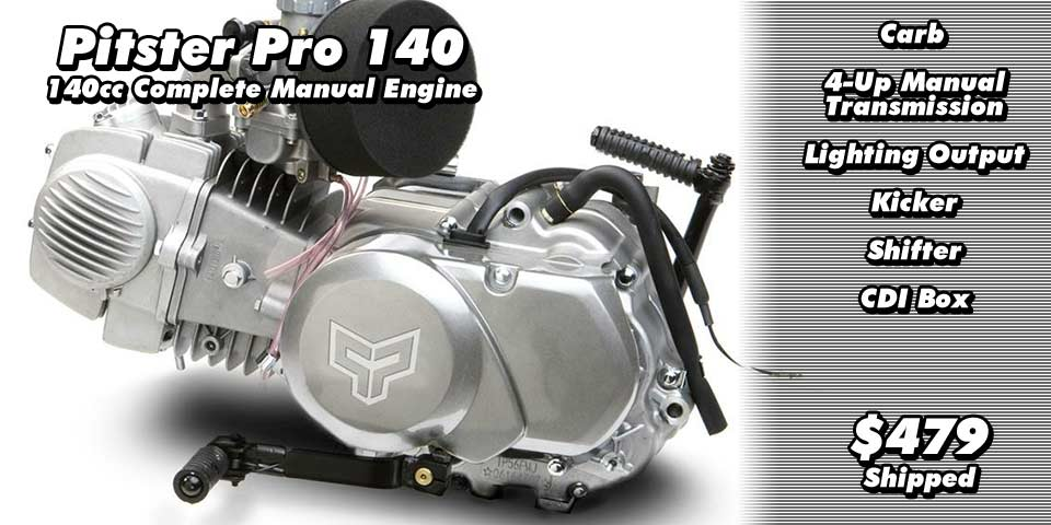 Pitster Pro 140cc Engine for CRF50 etc.