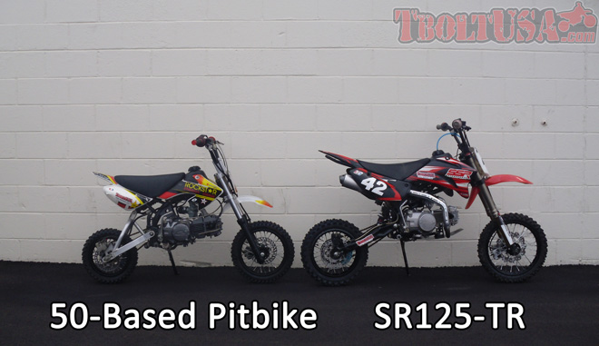 Size Comparison: 50-Based Pitbike and SR125-TR