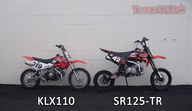 Size Comparison: KLX110 and SR125-TR