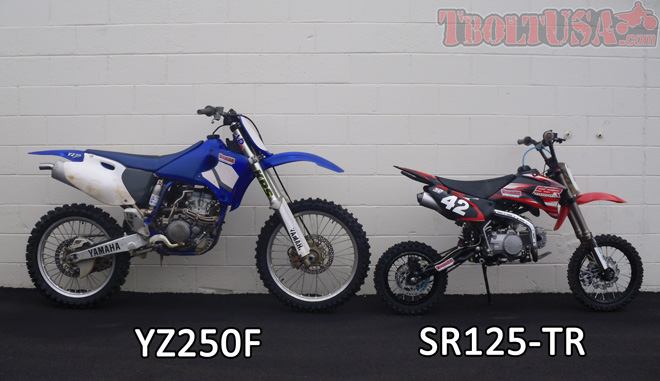 Size Comparison: YZ250F and SR125-TR