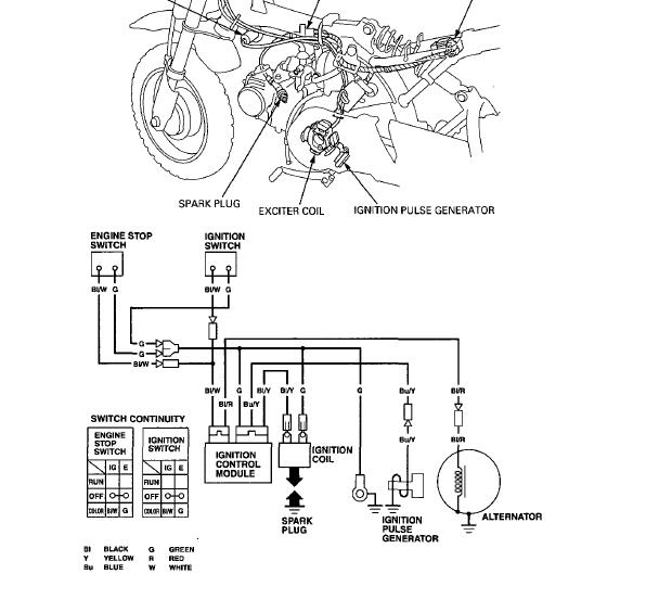 Honda XR 2FCRF50  26 70 Wiring on honda z50 wiring diagram