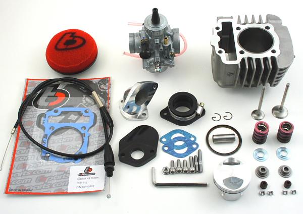 Tbparts Crf110 132cc 55mm Big Bore With Big Valve Kit