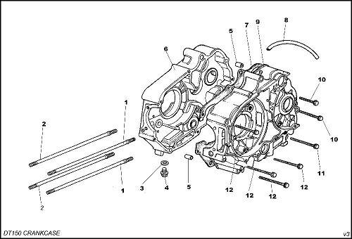 daytona 150  07 gasket crank case - whs-1886