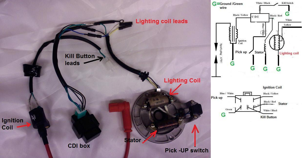 electric pit bike wiring diagram get free image about