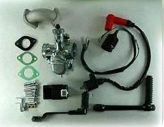 Black Lifan 125 4 UP SEMI-Auto Engine With Option For Carb & electrical
