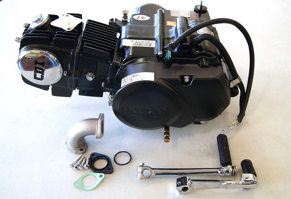 BLack Lifan 125 Manual 4 up Engine WHS 4191 Lifan 50