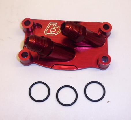 V2 Red Billet Oil Cooler Tap Cover - TBW0854 - CRF50 XR50 ...