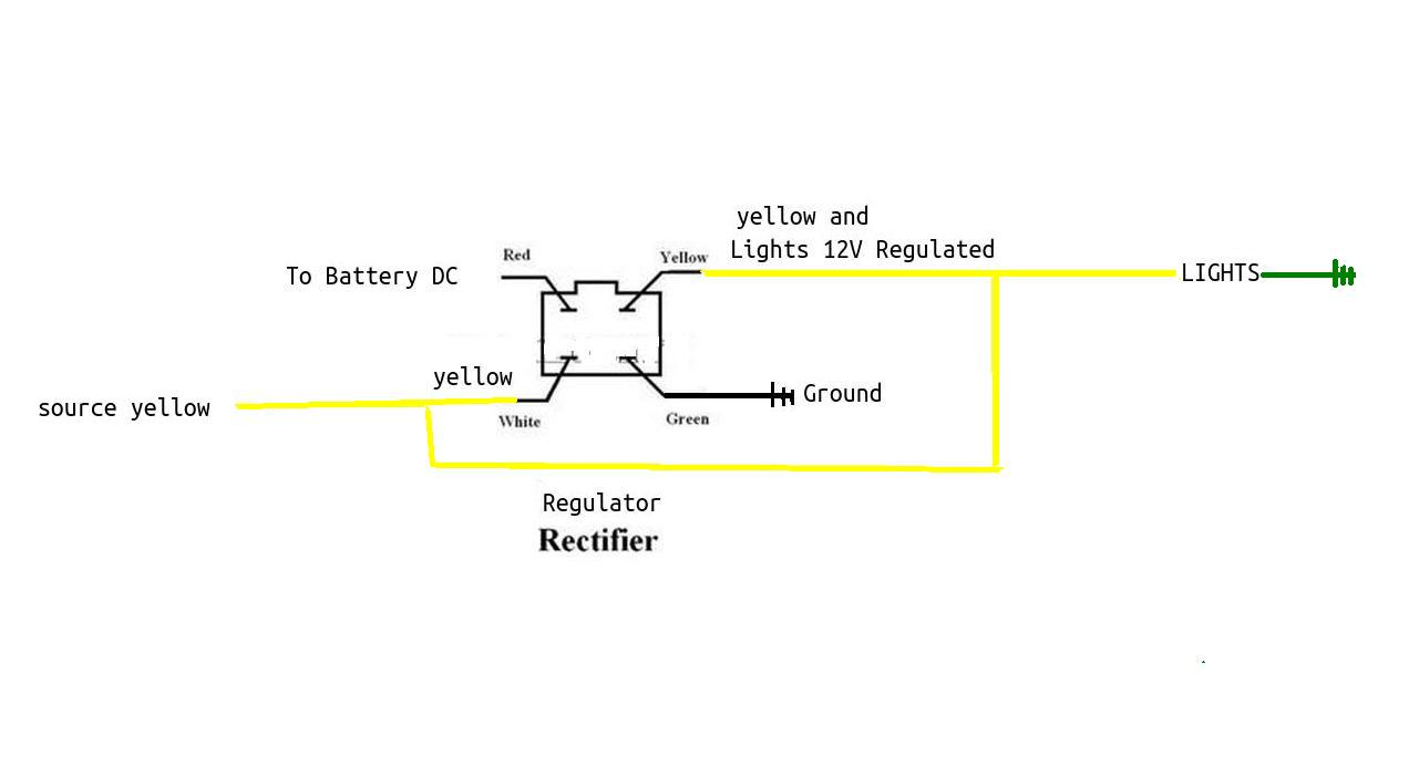 Xr70 Wiring Diagram Library Honda Xr200r On Stator 4 Wire Regulator Yx Yellow Connection