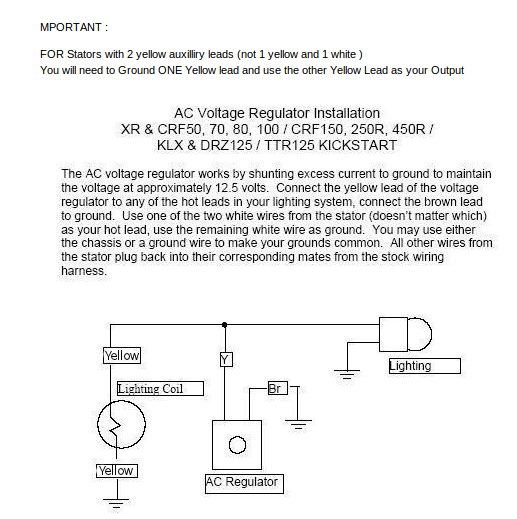 z50 k2 and lifan 125 wiring 12 volt voltage regulator works well dirt bike type circuits