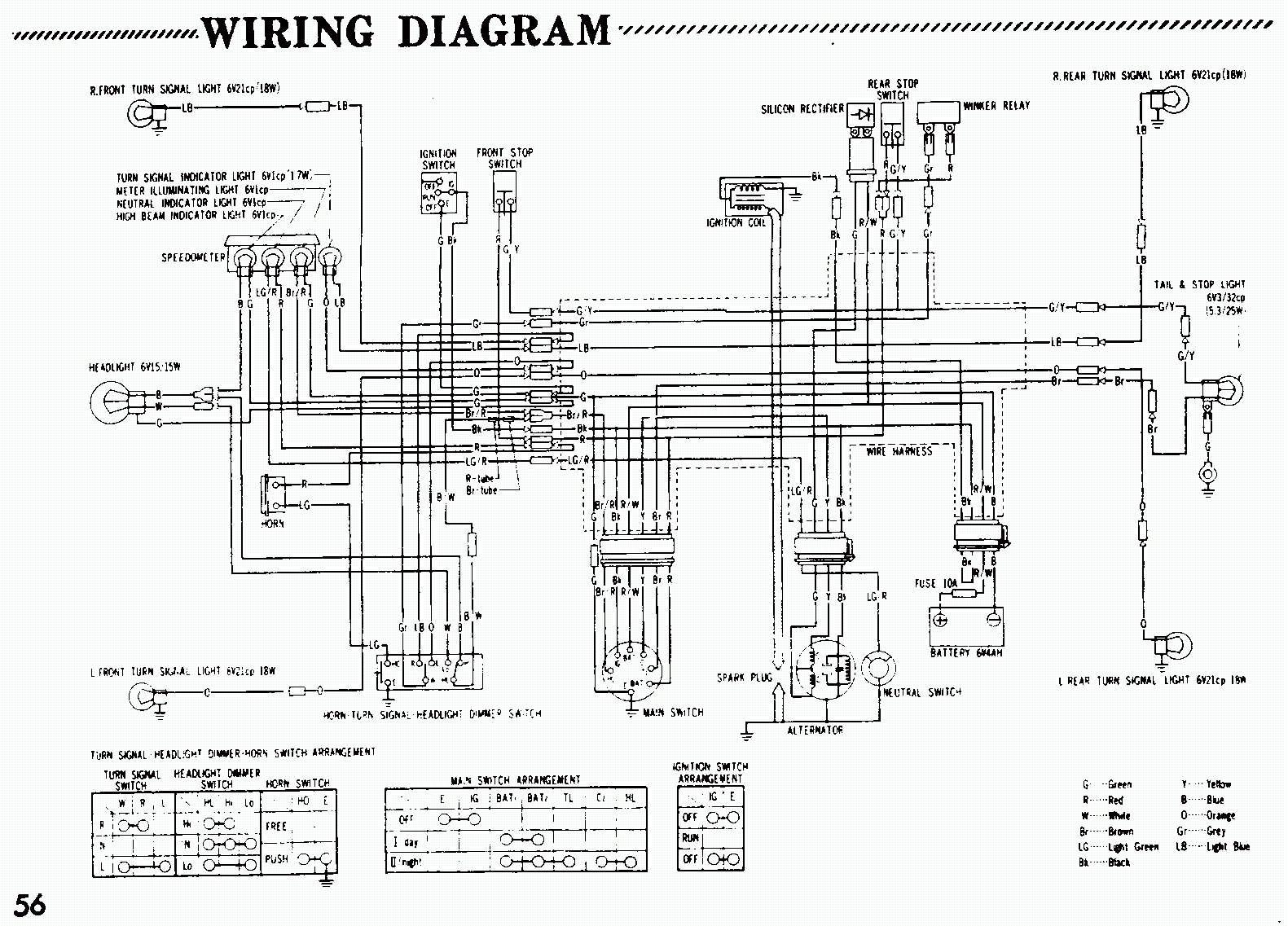 honda trail 70 wiring diagram