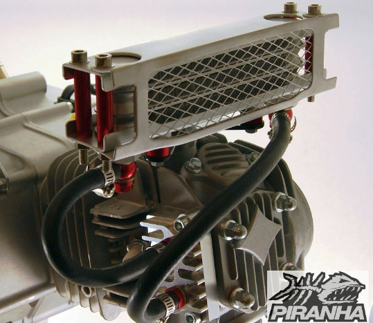 super oil cooler kit ii finned whs  oil coolers oil filters pit bike engine parts