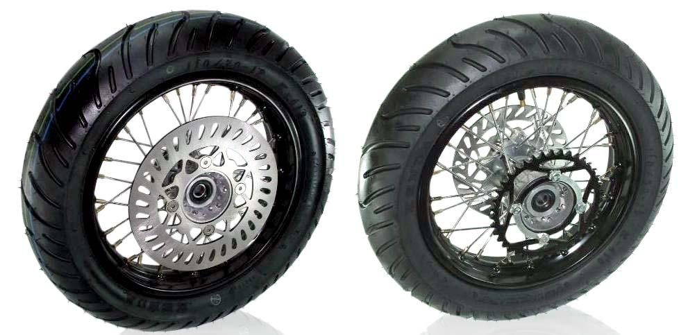 12 Super Wheel Moto Set Whs 1118 Wheels Parts Pit Bike