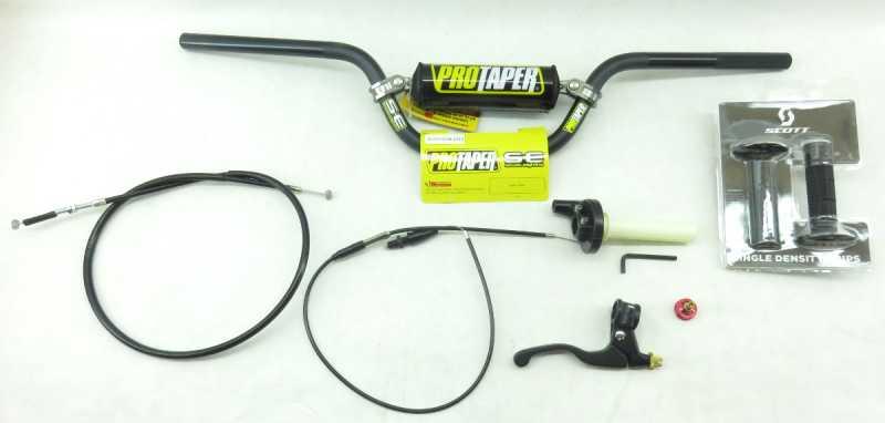 pro taper handlebar kit tall bars wcontrols crff trc  bars grips pit bike