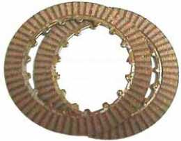 Clutch disc set, two disc, fiber on both sides,  CT70 and Z501