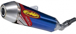 FMF - Factory 4.1 Slip-On 4-Stroke Exhaust - Titanium Mid Pipe - Suzuki RM-Z450 \'08-09 - Anodized Blue