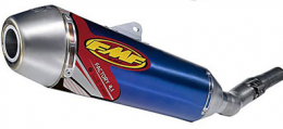 FMF - Factory 4.1 Slip-On 4-Stroke Exhaust - Stainless Mid Pipe - Honda CRF150R '07-12 - Anodized Blue