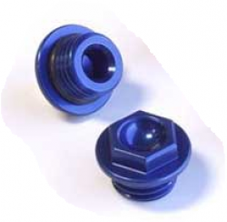 Works - Oil Filler Plug - Honda CR125/250, CRF150R/F, 230F, 250R/X, 450R/X - Blue