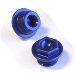 Works - Oil Filler Plug - Honda CR125-500 '87-04, CRF450 '02-04 - Blue