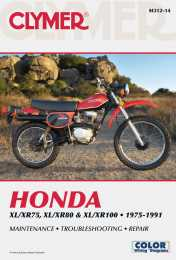 Clymer Manuals Honda XL/XR75, XL/XR80 & XL/XR100 1975-19911