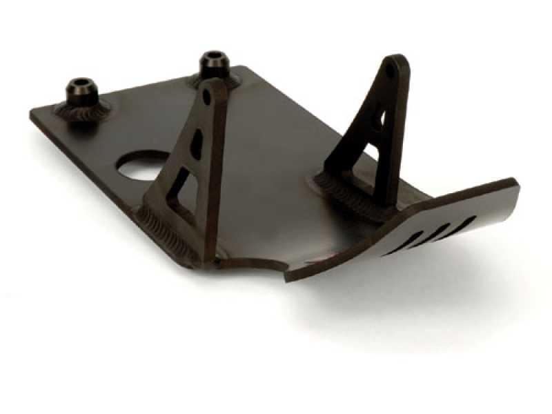bbr skid plate xrcrfzr black  hxr  frames swingarms pit bike chassis