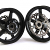 Piranha - Aluminum 12&quot; Black <br> S1 SuperMoto Motard Wheel Set1