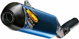 FMF - Factory 4.1 RCT Slip-On Exhaust - Titanium Mid Pipe - Honda CRF250R '11-12 - Anodized Blue - Carbon End