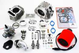 .TBparts - Roller Rocker Race Head V2 88cc Big Bore Kit <br> Z50 CRF50 XR50 & Pit bikes w/ Mikuni VM26 Carb1