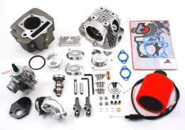 .TBParts - Roller Rocker Race Head V2 146cc Big Bore w/VM26 Carb Kit <br> China 120cc & 125cc engines1
