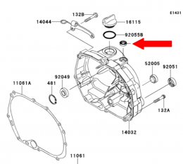 Kawasaki KLX110L manual clutch arm seal1