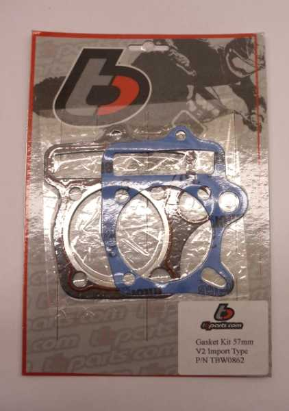 TBParts - 57mm Top end Gasket set for stock & V2 Import Heads - GPX / YX