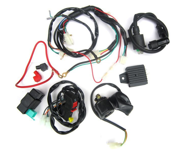 electric start wiring kit and harness 12 vac whs 4179 electrical pit bike engine parts. Black Bedroom Furniture Sets. Home Design Ideas