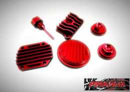 ENGINE DRESS UP KIT RED - Honda Dax CRF50 CT70 & Trail 70 Z501