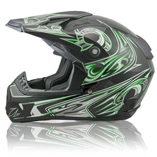 HLS Green Motocross Helmet By SSR Motorsports - Adult Sizes - DP906-N ...