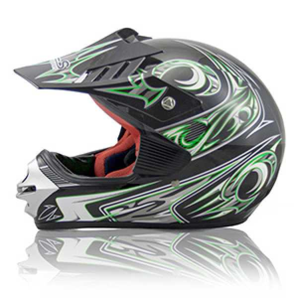 HLS Green Motocross Helmet BY SSR Motorsports - Youth Sizes - DP-168 ...
