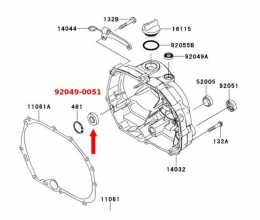 Kawasaki KLX110L manual clutch cover inner seal1