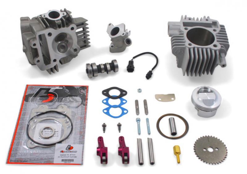 TBParts - 178cc Big Bore Kit, Race Head V2, and Intake Manifold Kit Z125
