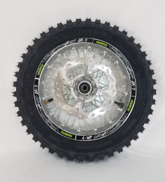 THUMPSTAR - 12IN REAR WHEEL WITH TIRE and Rim Lock SILVER1