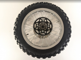 THUMPSTAR - 14IN REAR WHEEL WITH TIRE and rim lock SILVER1