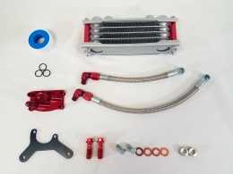 .TBParts - Oil Cooler Kit <br> w/ Intake mount for HONDA  V2 Head - RED1