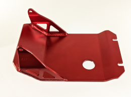 Kinetic MX - Skid Plate in RED for KLX/DRZ 1101
