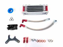 .TBParts - Oil Cooler Kit <br> w/ Intake mount for HONDA  V2 Head - BLACK1
