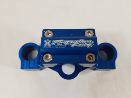 Two Brothers - Triple Clamp in Blue for KLX1