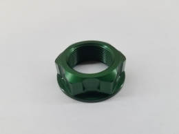 Piranha - Billet Steering Stem Nut - Green1