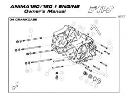 Daytona Anima 150 and 190 4V O E M  Crankcase Parts