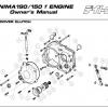 Daytona Anima 150 and 190 4V O.E.M. Clutch Cover Parts