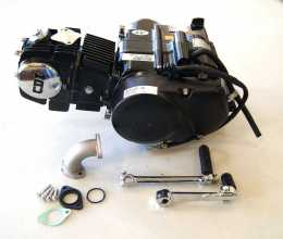 Black Lifan 125 4 UP SEMI-Auto Engine <br/>With Option For Carb & electrical1