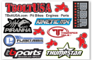 Mini MX Pit bike Sticker Pack (Online Only - One Per Customer)1